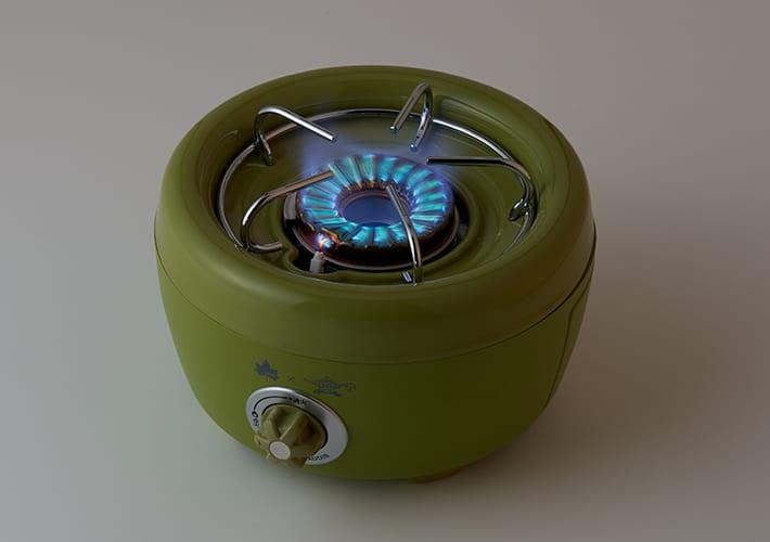 LOGOS × SENGOKU ALADDIN ポータブル ガス カセットコンロ ヒバリン